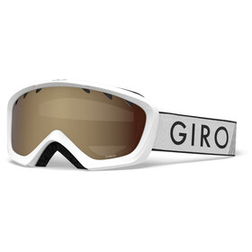Giro Chico Goggles Kinder white zoom/amber rose
